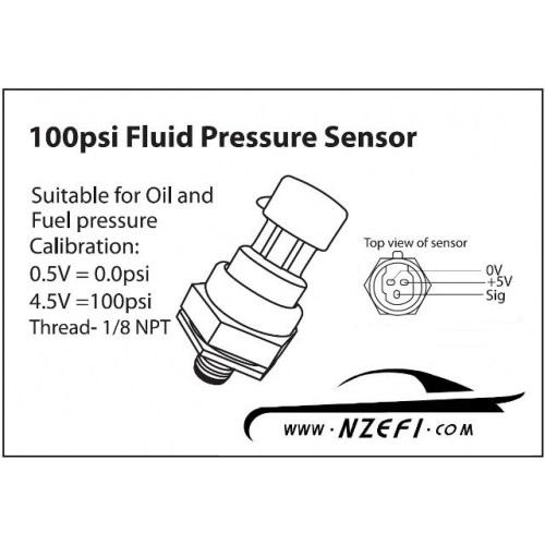honeywell 100 psi oil    fuel pressure sensor