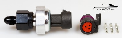 130psi Oil Pressure Sensor with Adaptor to AN-3 and Plug