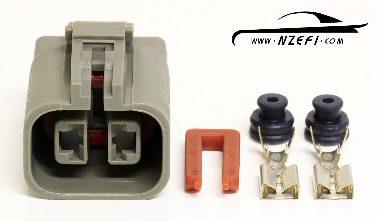 common 2 pin alternator connector suits nissan, mazda, mistubishi2 pin alternator connector common nissan etc (hitachi and mitsubishi branded alternators)