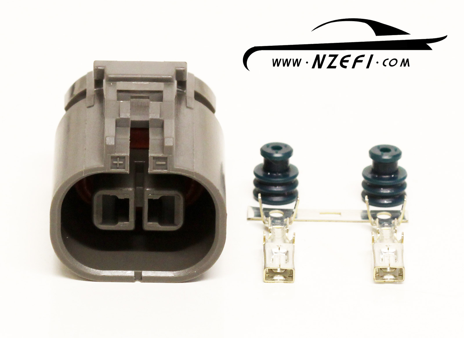 2-pin nissan s13 sr20det knock sensor sub-harness connector (engine loom  side