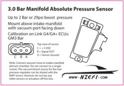 3.0 Bar Manifold Absolute Pressure Sensor – GM Calibration