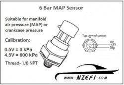 6 Bar MAP Sensor