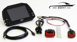 AIM MXS Strada Digital Dash Display – Street Icon Version Full Kit with Flying Lead CAN and Power Harness