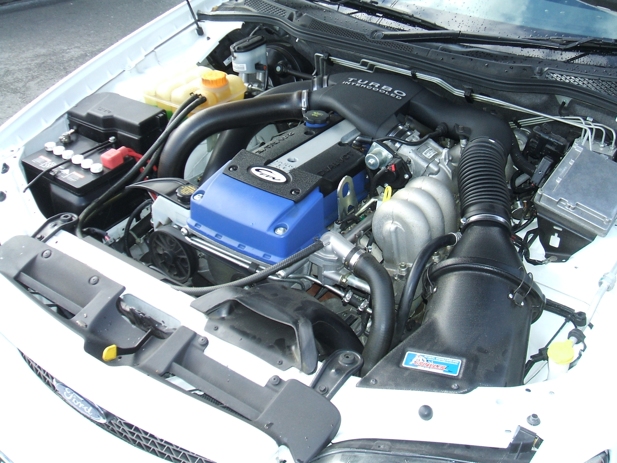 Ford Falcon Ba Bf Xr6 Turbo And F6 Power Upgrade Packages Nzefi Engine Bay