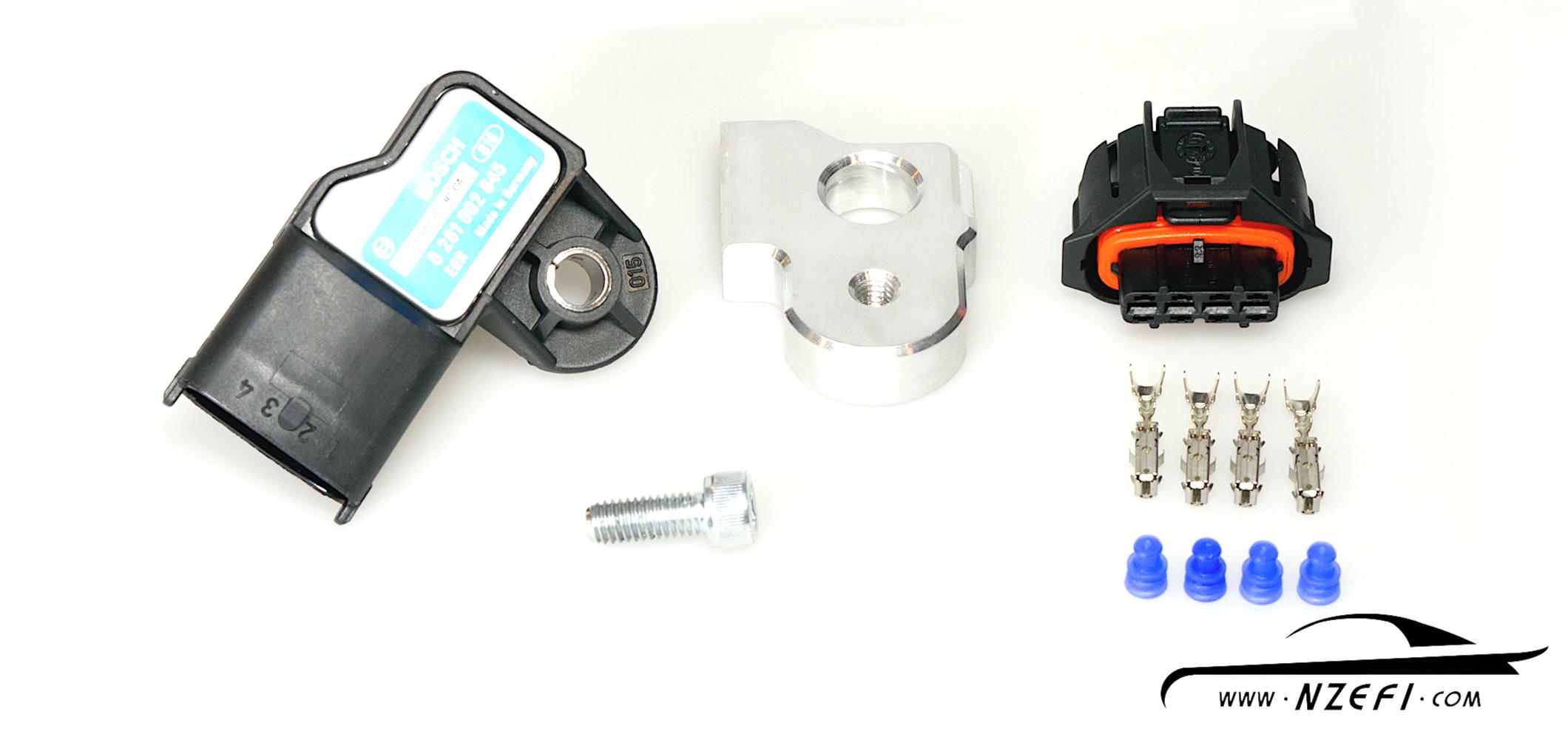 Bosch 3 Bar T-MAP Sensor with Weld-on Boss & Connector - NZEFINZEFI