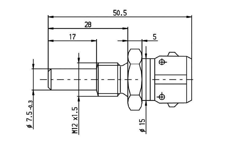 coolant temp sensor bosch engine coolant temperature sensor dimensional  drawing