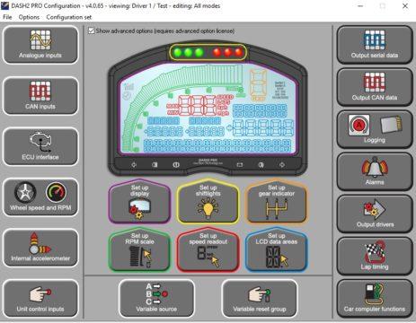 DASH2 PRO Configuration