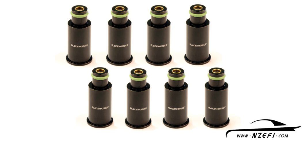 Fuel Injector Top Adapters - To 11mm O-Ring - Long - Set of 8 with filters