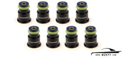 Fuel Injector Top Adapters - To 14mm O-Ring - Short - Set of 8 with filters