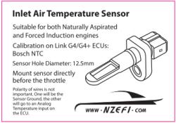 Bosch Fast Response Intake Air Temperature (IAT) Sensor