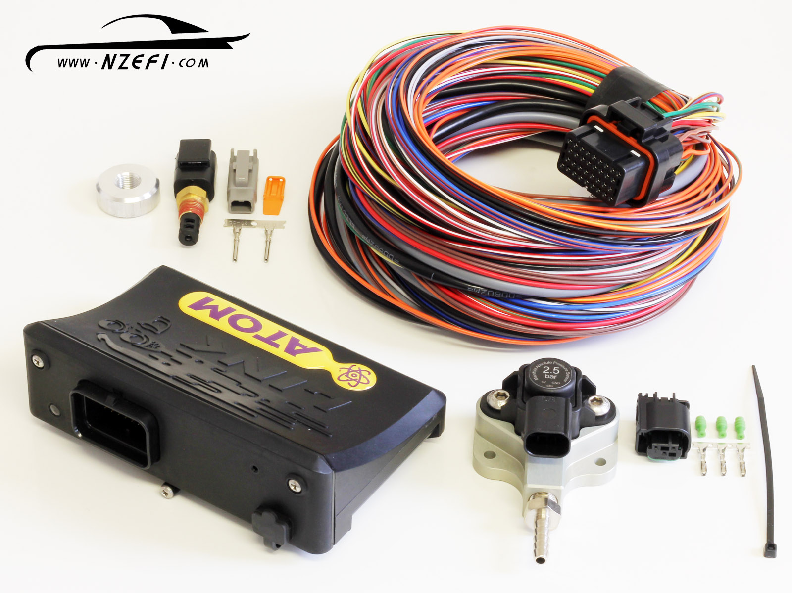 Link G4 Atom Ii Essentials Package Nzefi Wiring Harness Kit For 5 0 Efi Engine 2 25 Bar Map Sensor M Loom