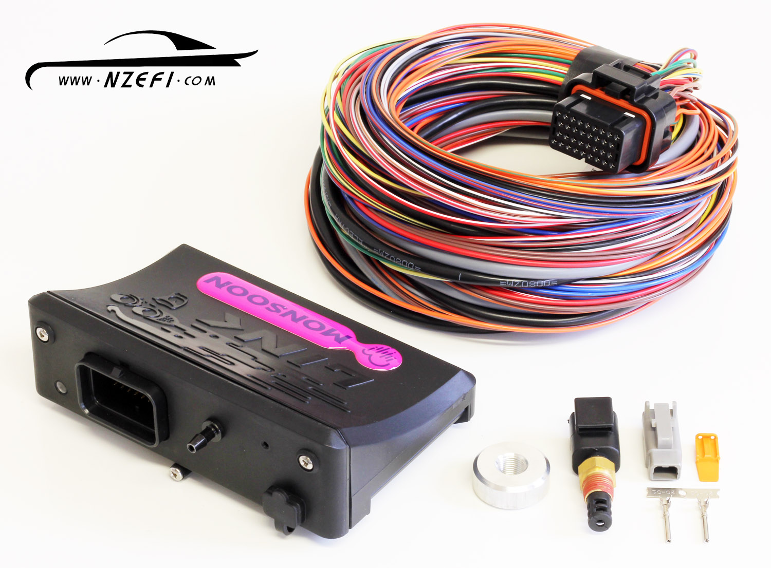 Nzefi Engine Management Solutions Mitsubishi Wiring Harness Nz Link G4 Monsoon Essentials Package