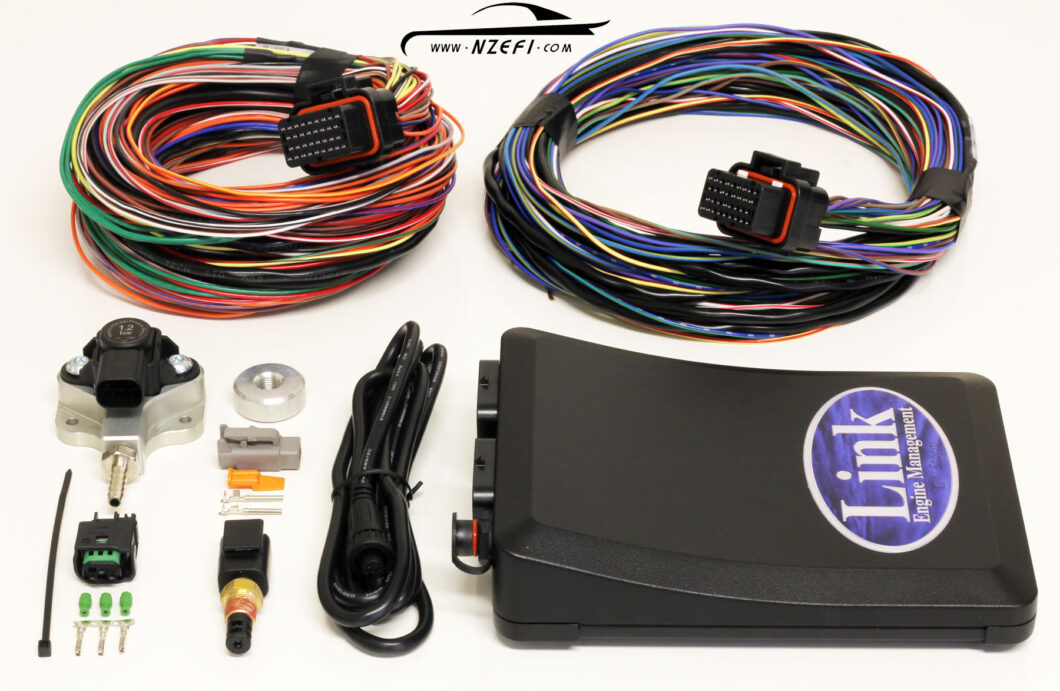 Link G4+ Storm Black Essentials Package with 1.2 Bar MAP Sensor + 2.5m Loom A and Stripped Loom B