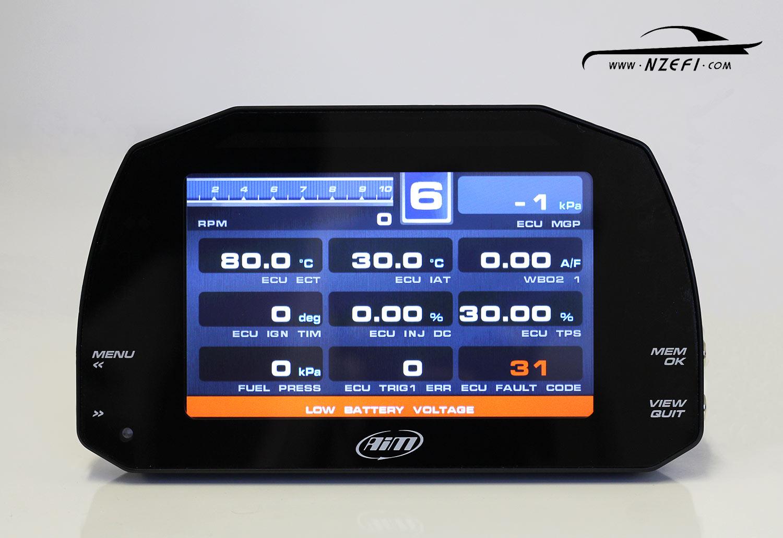 AIM MXS 1 2 Strada Digital Dash Display – Street Icon Version