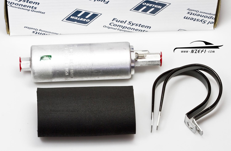 WALBRO GSL393 160LPH Universal Inline External Fuel Pump Installation Kit